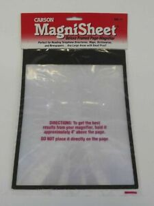 """Carson MagniSheet Deluxe Framed Page Magnifier 10.75""""X8.25""""- , DM11"""