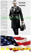 ❶❶1/6 Gang Style Black Leather Fur man Coat Jeans Mafia Spade 4 hot toys USA ❶❶