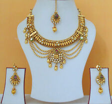Indian Bollywood Style Designer Bridal Beautiful Fashion Necklace Jewelry Set