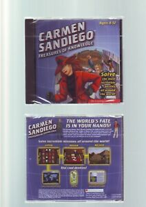 WHERE IN THE WORLD IS CARMEN SANDIEGO : TREASURES OF KNOWLEDGE - PC GAME - NEW