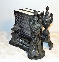 Vtg Decorative Fireplace andirons or Venetian Roman style bookends
