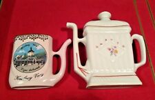 SALE PORCELAIN: 2 Sipping Mugs Cups Karlovy Vary and Hissar Fine Porcelain VTG