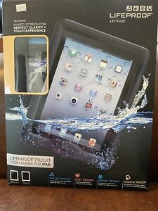 LIFEPROOF Nuud Waterproof Case for iPad 2/3/4 - Black - Brand New -MSRP: $129.95
