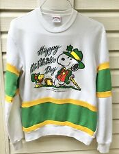 Vintage 1958 1965 Nutmeg Mills Snoopy Sweatshirt L St Patrick's Day 80's?