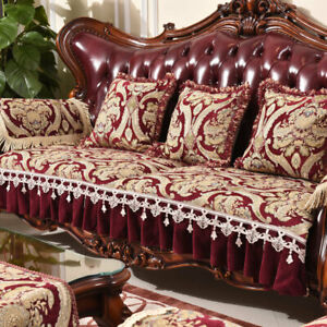 Lace Chenille Sofa Couch Cover Slipcover 2/3 Seater Chair Furniture Protector