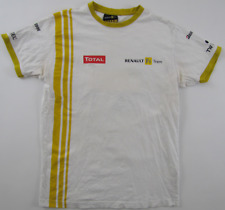 Renault F1 Team 2000s Bridgestone Total TW Steel Formula racing white T shirt S?