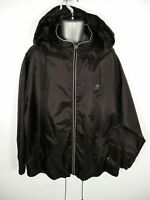 MENS SLAZENGER BLACK ZIP UP LIGHTWEIGHT HOODED ATHLETIC COAT JACKET 2XL 2XLARGE