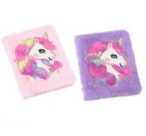 A5 Cute Fluffy Unicorn Lined Notebook Drawing Book Journal Note Pad