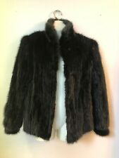 Saga Fur Black Dyed Mink Vintage Jacket Coat Stunning