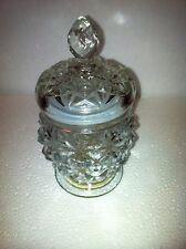 Avon: Vintage: Crystal Facets Glass Decanter Jar # 41623 & free Christmas Cd