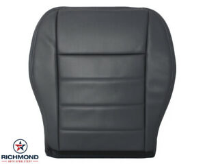 2008 Dodge Charger Daytona R/T - Driver Side Bottom Leather Seat Cover Dark Gray