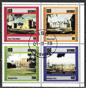 1978 ISO Sweden block of 4 stamps 25th anniversary Queen Elizabeth II CTO
