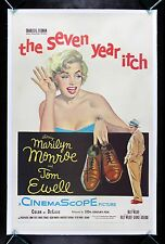 7 SEVEN YEAR ITCH * CineMasterpieces 1955 ORIGINAL MOVIE POSTER MARILYN MONROE