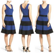 FELICITY & COCO  LACE  STRIPE FIT & FLARE   DRESS   Sz L   Nordstrom  NEW   $128