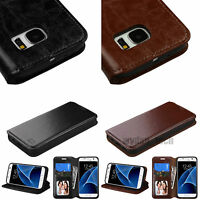 For Samsung Galaxy S7 / S7 Edge Leather Wallet Phone Case Stand Cover Card Slot
