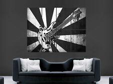 Schwarz und weiß Gitarre Musik Noten Poster Abstrakt STYLE Wandbild groß Bild