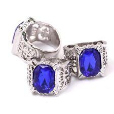 Black Butler Ciel Phantomhive Cosplay Family Sapphire Ring Kuroshitsuji Blue Gem