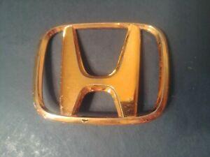 ✅ OEM 01 02 03 04 05 Honda CIVIC EX LX DX GX GOLD Emblem TRUNK REAR H LOGO BADGE