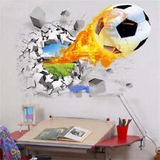 3D Creative Soccer Hot Ball Wall Sticker Decal Kid Bedroom Home Room Decor Sport