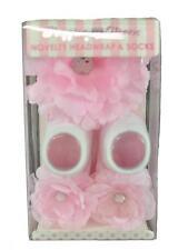 Stepping Stones Infant Girls Pink Novelty Headwrap & Socks Size 0-12M