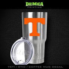 Tennessee - Yeti/Rtic/Yeti Rambler/Tumbler/Coffee Mug-Decal-Orange