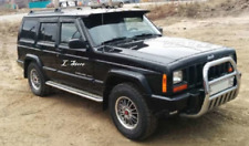 For Jeep Cherokee 1984-2001 Side Window Visors Sun Rain Guard Vent Deflectors