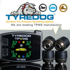 TYREDOG TPVMS TD1800 4 External Sensors Detect Tire and Rim Abnormal Quick DIY
