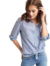 Z NEW NWT GAP FITTED BOYFRIEND BLUE STRIPE SHIRT BLOUSE SHIRT TOP S SMALL 8 4 36