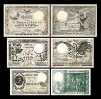 2x  50, 100, 500 Pesetas - Issue 1902 - 1903 - Reproduction - 33