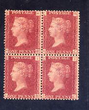 GB Q.V. 1858 1d PLATE 192, SUPERB M/MNH BLOCK 4, SG41. HB/HC, IB/IC, CAT £260.