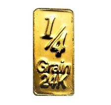 1/60 Gram .9999 Fine 24k Gold Bullion Bar - In Assay Card