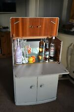 Shabby vintage compact cocktail / drinks cabinet, storage