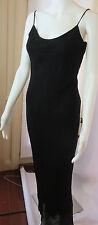 FUTURE OZBEK Long Black Embellished  Spaghetti Strap  Dress Sz 6