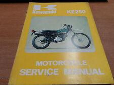 OEM Kawasaki 1976 KE250 Service Manual 99931-501-01