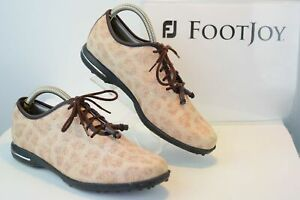 FOOTJOY Tailored Collection  Womens 7 M Spikeless Golf Shoes Animal Print GF100