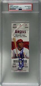 Jered Weaver Signed First MLB No-Hitter Baseball Ticket Stub 5/2/2012 PSA 88865