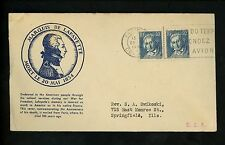 Postal History France Scott#295(2) Commemorative Marques De Lafayette 1934 Paris