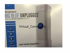 Brookstone Big Blue Unplugged Wireless Indoor/Outdoor Speaker Portable White