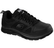 Skechers Zapatos Trabajo 77040 Negra para Hombre Memory Foam comodidad de cuero antideslizante