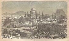A0778 Kandahar . Veduta - Stampa Antica del 1911 - Xilografia