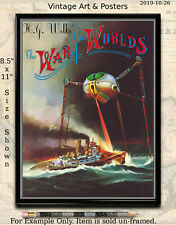 Vintage Sci-Fi Movie Poster - War of the Worlds 8.5x11 inch Film Art Mini Print