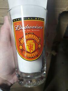 Budweiser Manchester United Pint Glass