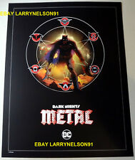BATMAN DARK NIGHTS METAL POSTER LITHOGRAPH LITHO DEALER EXCLUSIVE DC REBIRTH NEW