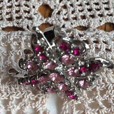Grazioso ABITO Cluster Anello-REGOLABILE BAMBINO rosa/rosso ciliegia pietre rosa