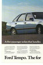 1985 Ford Tempo 2 Page Advertisement