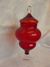 Ruby ART GLASS BON-BON/FARMACIA Jar