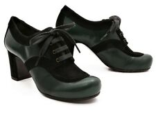 CHIE MIHARA SHOES MARLEN LACE UP OXFORD BOOTIES GREEN BLACK 39