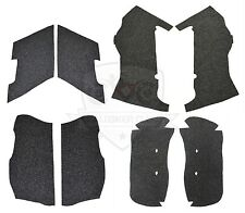 4in Extended Stretched Saddlebag Carpet Liner Charcoal Grey for Harley-Davidson
