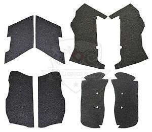 4in Extended Stretched Saddlebag Carpet Liner Charcoal Grey for Harley-Davidson