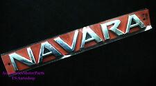 """Logo Emblems Rear Back """"navara"""" Genuine Parts Fits Nissan NAVARA D40 2005 - 2013"""